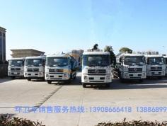东风天锦10方吸污车7台发往咸宁市环卫!